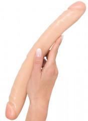 Fallo doppio realistico rosa 33,1 x 3,8 cm.