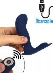 Stimolatore prostatico Vibrante Telecomandato Ricaricabile USB 12 x 3,5 cm.