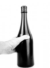 Fallo anale a forma di bottiglia All Black 34,5 x 9,5 cm.