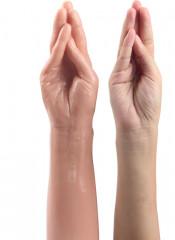 Braccio e Mano Realistici con Dita a Freccia 35 x 7,7 cm. Color Carne