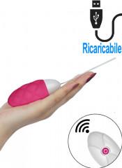 iJoy - Ovetto Vibrante Telecomandato Wireless 8 x 3,3 cm. Rosa Ricaricabile con USB