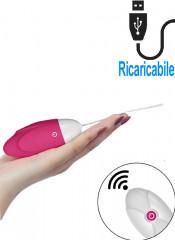 iJoy - Ovetto Vibrante Telecomandato Wireless 8,8 x 3,5 cm. Rosa Ricaricabile con USB
