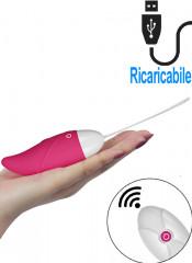 iJoy - Ovetto Vibrante Telecomandato Wireless 9,5 x 3,3 cm. Rosa Ricaricabile con USB