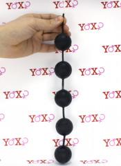5 Sfere di 3 cm. con Palline interne Oscillante  Anali o Vaginali Rivestite in Lattice