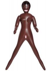 Bambola Gonfiabile Negra con Bocca, Ano e Vagina Penerabili