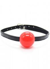 Gag Ball Rossa con Cinturino in Ecopelle Regolabile