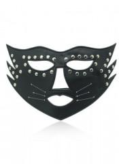Maschera da Gatta con Borchie Metalliche