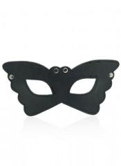 Maschera Nera da Farfalla con Borchie Metalliche