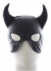 Maschera Nera da Diavolo con Lacci