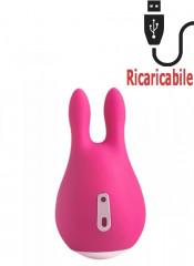 Stimolatore Clitoride a Forma di Coniglietto Ricaricabile USB 9 x 5 cm.