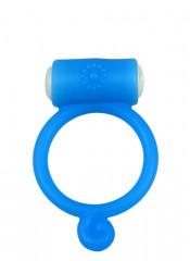 POWER RING TEAR - Anello Fallico Vibrante Elastico in Silicone Azzurro