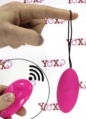 Ovetto Vibrante Telecomandato Wireless 7,5 x 3,5 cm. Rosa