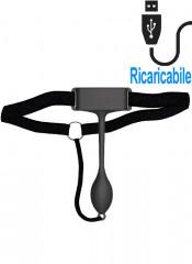 Adrien Lastic PAN-T VIBE - Stimolatore Clitoride Indossabile con Telecomando 15,7 x 2,6 cm. Ricaricabile USB Nero