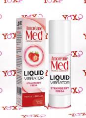 Lubrificante vaginale con effetto vibrante alla fragola 30 ml.
