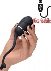Ovetto Vibrante Nero Telecomandato Ricaricabile con USB 6 x 3 cm.