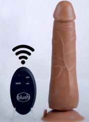 Vibratore realistico mulatto con ventosa e telecomando wireless 23 x 5 cm.