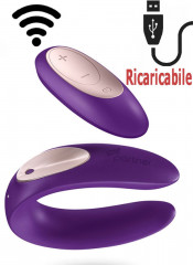 Vibratore per Coppia in Puro Silicone Ricaricabile USB con Telecomando