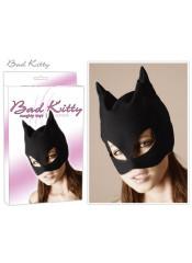 "Maschera Bad Kitty ""Catmask"" Stile Nabuk Nero Opaco"