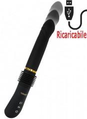 Vibratore con Penetrazione a Spinta 31 x 3,5 cm Ricaricabile USB
