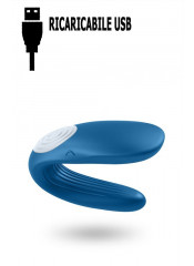Vibratore per Coppia in Puro Silicone Ricaricabile USB 9 x 3,5 cm.