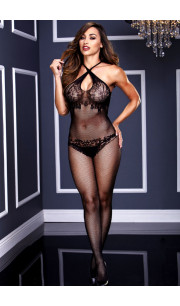 Tuta Sexy con Ricami Crossed Laces Baci Lingerie - Taglia Unica Elasticizzata (Tg.36-48)
