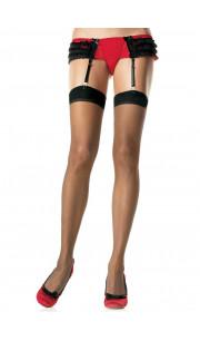 LEG AVENUE Calze Velate Autoreggenti - Taglia Unica Elasticizzata (Tg.36-48)