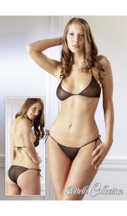 Bikini Nero Semi-Trasparente - Taglia Unica