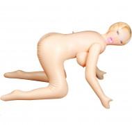 Omaggio bambola gonfiabile a pecorina - Bocca, ano e vagina penetrabili