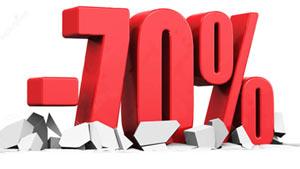 Sconti al 70%
